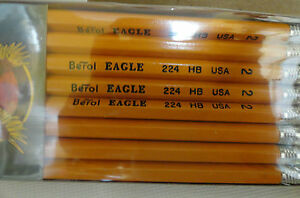 96 Berol Eagle 224 Pencils With Erasers Hb 2 12 Packs Of 8 Usa Made