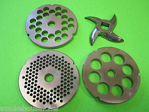 32 Meat Grinder Disc Plate Set And Knife For Hobart Lem Cabelas Universal Etc