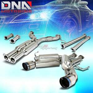 4 5 dual Burnt Tip Stainless Exhaust Catback System For 350z g35 Fairlady Z33