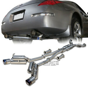 Fit 350z Z33 G35 Dual 4 5 Tip Stainless Hi Power Racing Catback Exhaust System