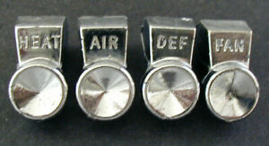 Vintage Original 61 62 Chevy Bel Air Heater Ac Fan Defrost Chrome Knobs Full Set
