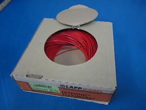 22 Awg Awm Style Red Tin Coated Stranded Wire 100m 328 Lapp Kabel Gmbh German