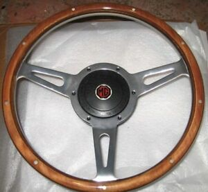 New 13 Wood Steering Wheel And Adaptor For Mgb 1963 1967 Mg Midget 1964 1967