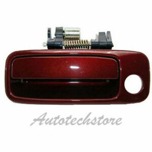 B469 For 97 01 Toyota Camry Front Left Driver Outside Door Handle Burgundy 3n6