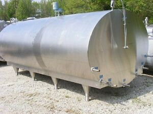 2 000 Gallon Mueller Horizontal Jacketed Sanitary Dairy Wine Milk Beer Tank