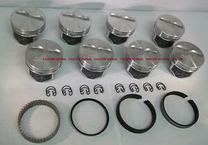 Speed Pro Chevy 350 383 Hypereutectic Coated Pistons 8 H860cp 30 Moly Rings
