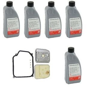 5 Automatic Transmission Fluid Liter Filter Kit For Beetle Cabrio Golf Jetta