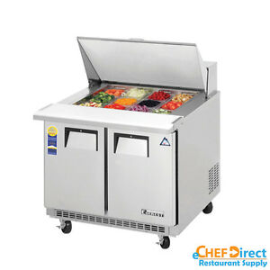 Everest Epbsr2 36 Mega Top Sandwich Prep Table