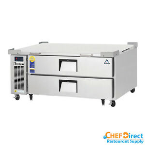 Everest Ecb52d2 52 Double Drawer Chef Base