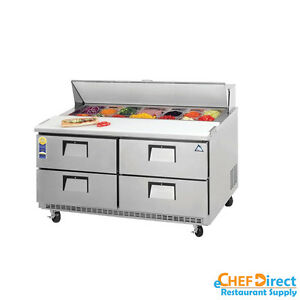Everest Epbnr2 d4 48 Four Drawer Sandwich Prep Table