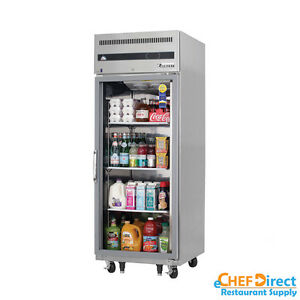 Everest Esgr1 29 Single Glass Door Reach in Refrigerator