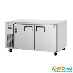 Everest Etwf2 60 Double Door Undercounter Freezer side Mount