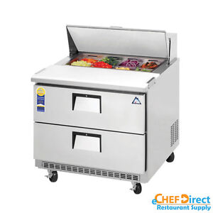 Everest Epbnsr2 d2 36 Double Drawer Sandwich Prep Table