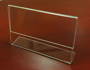 Set Of 12 Counter Top Acrylic Sign Holder W 20 Special Signs Bundle 5 5 X 7