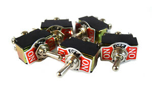 5 Pieces Dpdt 10 amp Toggle Switch With On Center Off Position Heavy Duty