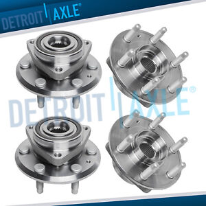 4pc Front Rear Wheel Bearing Hub Buick Enclave Chevy Traverse Gmc Acadia 3 6l