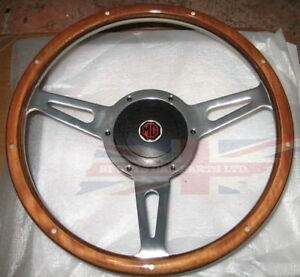 New 13 Wood Steering Wheel And Adaptor For Mgb 1977 1980 Mg Midget 1978 1979