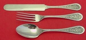Japanese By Whiting Sterling Silver Junior Set 3pc