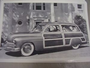 1949 Mercury Woody Station Wagon 12 X 18 Large Picture Photo