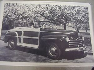 1946 Ford Sportsmen Convertible 12 X 18 Large Picture Photo