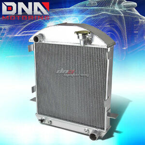 For 1917 1923 Ford Model T Tin Lizzie 3 Row Full Aluminum Replacement Radiator