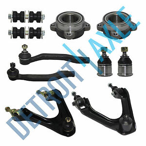 2 Front Wheel Bearing Upper Control Arm Lower Ball Joint Tie Rod Sway Link