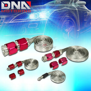 Braided Hose Stainless Steel Red Engine Dress Up Kit Radiator vacuum fuel