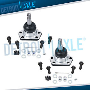 New 2 Front Upper Ball Joints For Buick Chevy Cadillac Gmc Pontiac 2wd