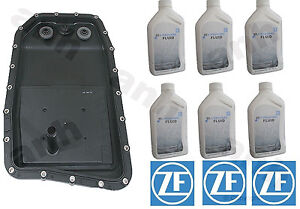 Zf Transmission Pan Filter 6x Liters Zf Lifeguard 6 For Bmw