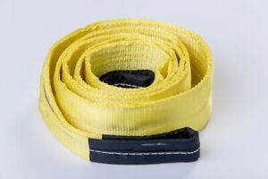 3 20000lbs Tow Strap 3x10ft Winch Tree Saver Protector Offroad Snatch Suv Truck