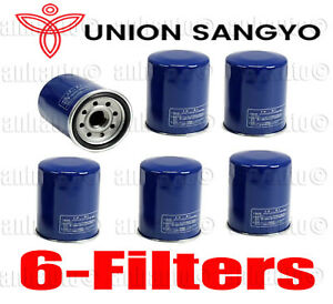 Set Of 6 Oem Quality Union Sangyo Oil Filter S For Honda Acura 15400plma01
