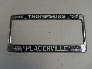 Thompsons Gmc Buick Pontiac Jeep Metal License Plate Frame Holder Tag Embossed