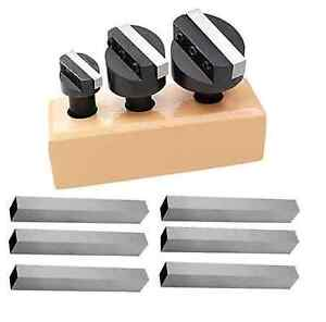 3 4 Shank 1 1 2 2 2 1 2 Fly Cutter Set With 9pc 5 16 Hss Square Tool Bits