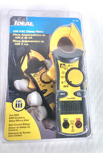 Ideal 400 Aac Clamp Meter 61 736 True Rms Non contact Voltage new