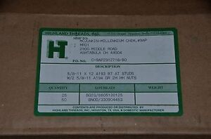 5 8 11 X 12 Astm A193 B7 All Thread Studs W 2 A194 Grade 2h Heavy Hex Nuts