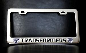 Transformers Autobots License Plate Frame Custom Made Of Chrome Plated Metal
