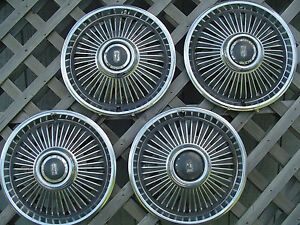 1966 66 Chevrolet Chevy Ii Hubcaps Wheel Covers Center Caps Antique Rims