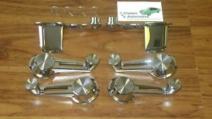 Door Handles Window Cranks 6pc Set Inside Chrome Impala 61 64 61 62 63 64