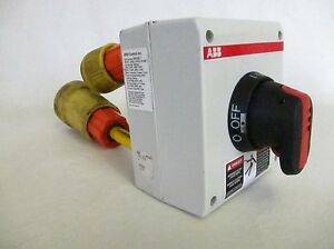 Abb Disconnect Selector On Off Switch Nf25e 3pb4b With 30a Plugs
