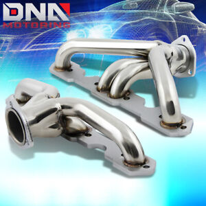 For 55 57 Sbc 265 283 V8 Block Hugger Tri 5 Exhaust Manifold Race Shorty Header