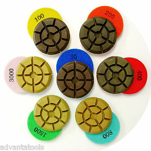 3 Dry Diamond Polishing Pad For Concrete 7pcs Set