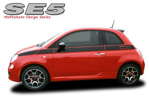 Body Line Side Rally Racing Stripes Vinyl Graphic Decal 2011 2016 Fiat 500