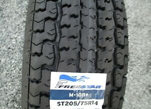 4 New St 205 75r14 Freestar M 108 Radial Trailer Tires 6 Ply 2057514 75 14 R14