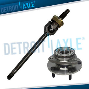 Driver Side Front Axle Shaft U joint Wheel Bearing Hub For Dodge Ram 1500 4x4