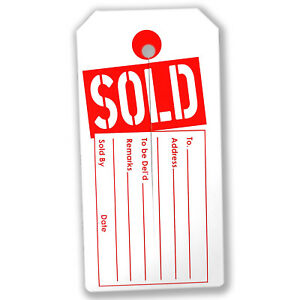 1000 Large sold Tags Red And White Heavy Duty Paper Stock 4 3 4 X 2 3 8