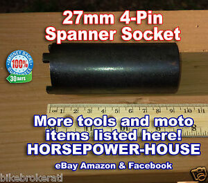 27mm Id 4 pin Spanner Tool Locknut Tool Fits Many Older Honda Motorcycles Atv