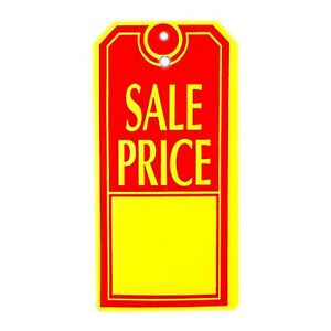 1000 Large sale Price Tags Red Yellow Heavy Duty Paper Stock 4 3 4 X 2 3 8