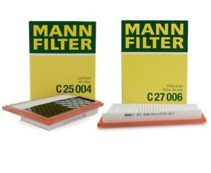 For Pair Set Of 2 Air Filter Set Mann Oem For Mb W164 W166 W211 W212 W221 W251