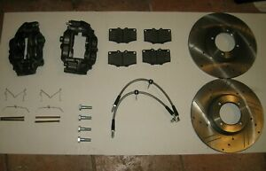 New Performance Big Brake Kit Calipers Rotors Hoses Etc Triumph Tr6 Tr250 Tr4a