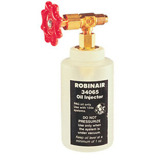 Robinair R 134a Oil Injector With 1 2 Acme Fitting Rob 34065